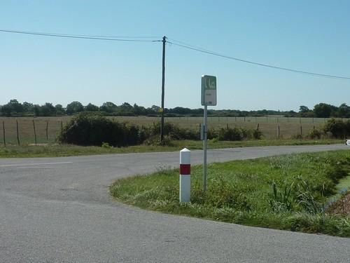 Un arrêt de bus de la commune de Corsept.